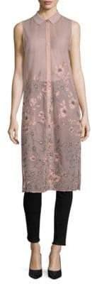 T Tahari Sabina Long-Line Floral Tunic