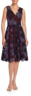 Floral Crochet A-Line Dress $348 thestylecure.com