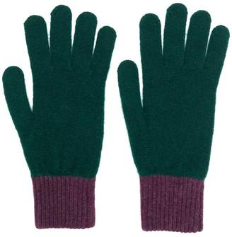 Paul Smith contrast knitted gloves