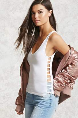 Forever 21 Ladder Cutout Tank Top