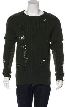 Yeezy Oversize Distressed Wool Sweater