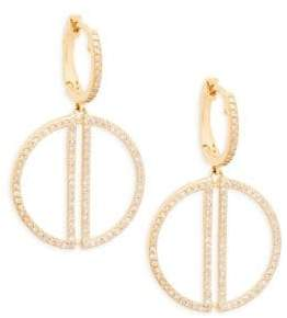 Effy 14K Yellow Gold & Diamond Drop Earrings