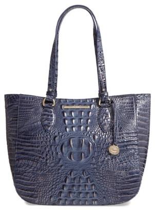 Brahmin Melbourne - Medium Lena Leather Tote - Blue $315 thestylecure.com