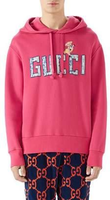 5e63be08a2e Gucci Logo-Patch Pullover Hoodie Sweatshirt
