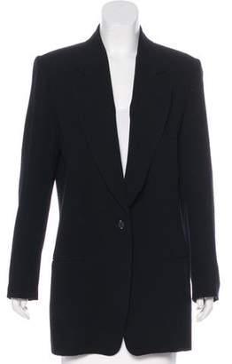 Donna Karan Notch-Lapel Short Coat