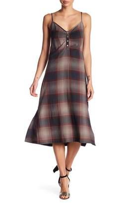 Love Stitch Plaid Midi Dress