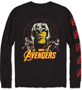 Hybrid Long-Sleeve Avengers Men Graphic T-Shirt