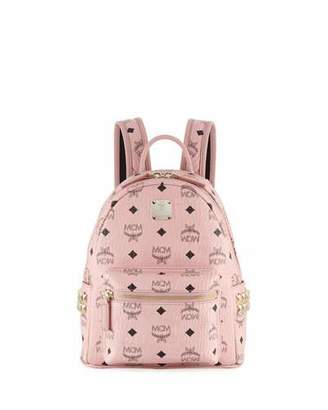 MCM Stark Visetos Mini Side-Stud Backpack