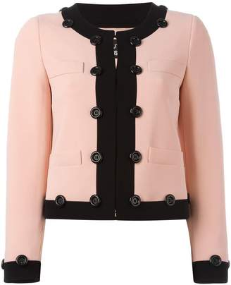 Moschino contrast trim cropped jacket