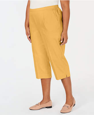 Alfred Dunner Plus Size Turtle Cove Pull-On Capri Pants