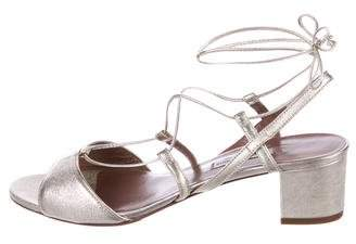 Tabitha Simmons Leather Wrap-Around Sandals