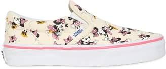 Vans Minnie Cotton Canvas Slip-On Sneakers