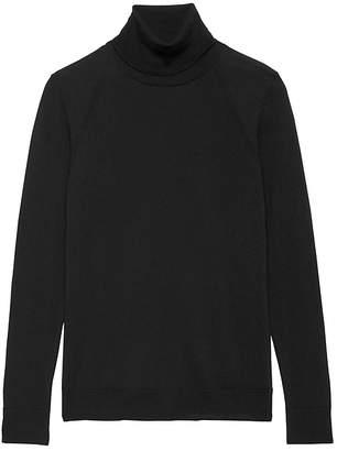 Banana Republic Petite Machine-Washable Merino Wool Turtleneck Sweater