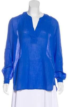 Diane von Furstenberg Long Sleeve Oversize Blouse