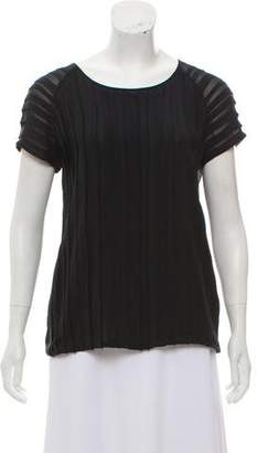 Joie Silk Ruffle-Accented Top