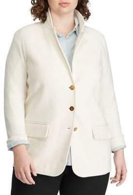 Lauren Ralph Lauren Plus Slim-Fit Cotton Blend Blazer
