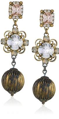 Sorrelli Women's Chrysanthemum Drop Earrings