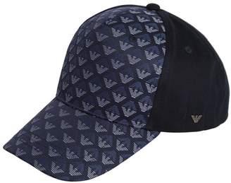 Armani Junior Logo Jacquard & Gabardine Hat
