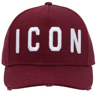 DSQUARED2 Icon Cotton Gabardine Baseball Hat