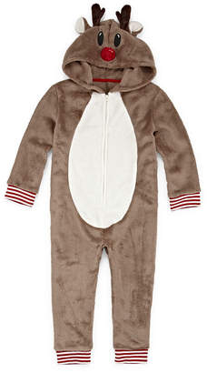 Co North Pole Trading Company Reindeer 1 Piece Pajama - Unisex Toddler