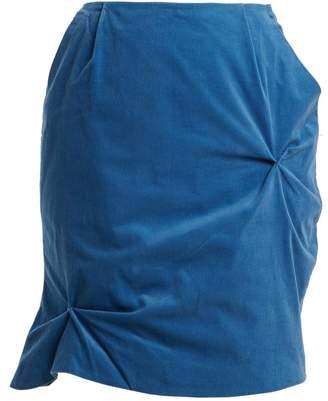 CHARLES JEFFREY LOVERBOY Twist-stitch cotton-corduroy mini skirt