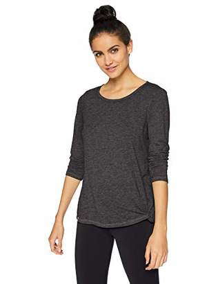 Andrew Marc Performance Women's Washed Long Sleeve Faux Knot