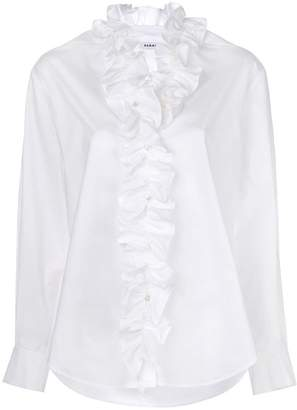 P.A.R.O.S.H. ruffle front blouse