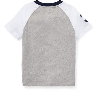 Ralph Lauren Childrenswear Short-Sleeve Logo Henley Top, Size 5-7