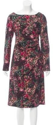 Talbot Runhof Flower Bomb Wool Dress w/ Tags