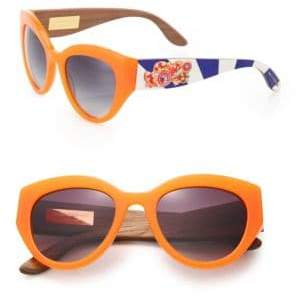 Dolce & Gabbana Sicilian Carretto 52MM Metal & Wooden Cat's-Eye Sunglasses