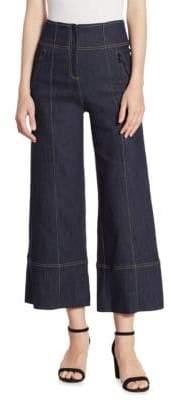 Cinq à Sept Marla Cropped Wide-Leg Denim Pants