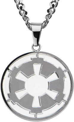 Star Wars FINE JEWELRY Death Star Symbol Mens Stainless Steel Pendant Necklace