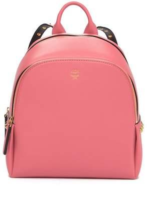MCM Polke Studs Mini Leather Backpack