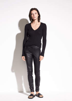 Zip Ankle Leather Legging