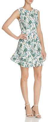 Aqua Botanical Flounce-Hem Dress - 100% Exclusive