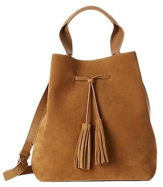 Gerard Darel Saxo Leather Suede Shoulder Bag