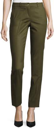 Michael Kors Samantha Skinny Tropical Pants, Olive