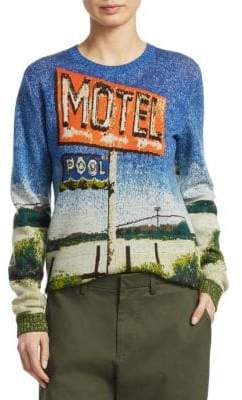 No.21 No. 21 Motel-Print Sweater