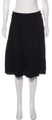 Viktor & Rolf Pleated Wool Skirt