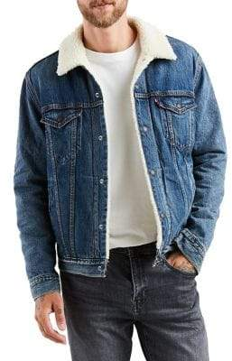 Levi's Type 3 Mayze Faux Shearling Denim Trucker Jacket