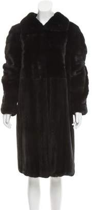 Oscar de la Renta Knee-Length Fur Coat w/ Tags