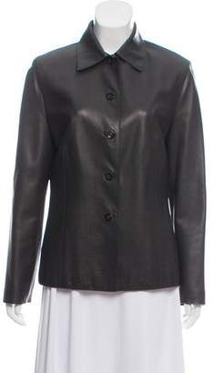 Loro Piana Leather Pointed Collar Jacket