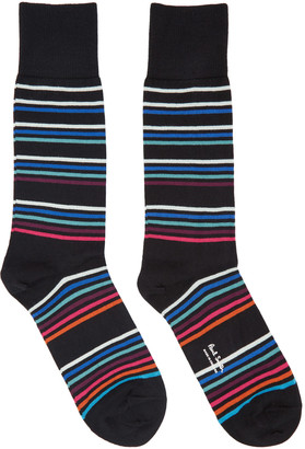 Paul Smith Black Mondo Multo Socks $30 thestylecure.com