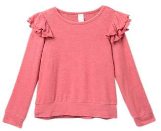 Harper Canyon Cozy Ruffle Knit Sweater (Toddler, Little Girls, & Big Girls)