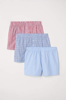 H&M 3-pack Woven Boxer Shorts - Red