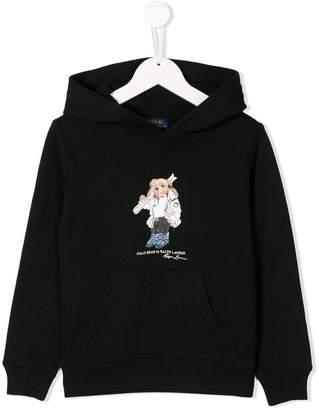Ralph Lauren Kids bear print hoodie