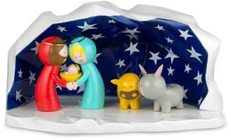 Alessi Uk Ltd UK Ltd - Crib Happy Eternity Baby Christmas Nativity Scene - Blue/Grey/Yellow
