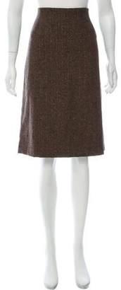 Barneys New York Barney's New York Wool Knee-Length Skirt