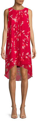 Halston H Sleeveless High-Low Dress