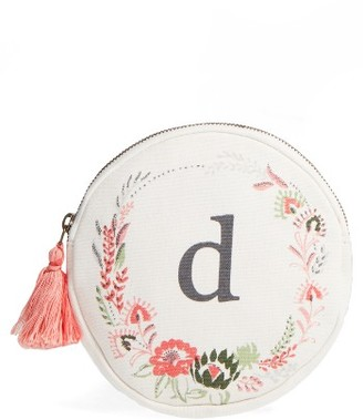 Nordstrom At Home Floral Monogram Pouch $18 thestylecure.com
